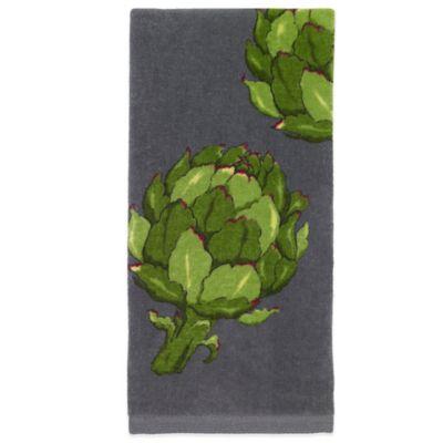 All-Clad Artichoke Print Kitchen Towel in Pewter