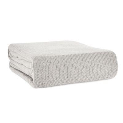 Full/Queen Cotton Blanket in Grey