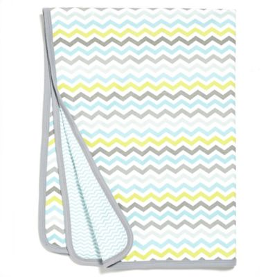 SKIP*HOP® Chevron Stripe Welcome Blanket in Blue
