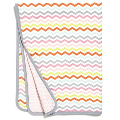 SKIP*HOP® Chevron Stripe Welcome Blanket in Pink