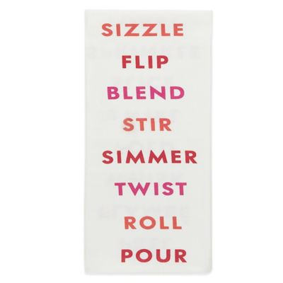 kate spade new york Fun Cooking Words Kitchen Towel in Red