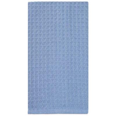 Waffle Microfiber Kitchen Towel in Blue