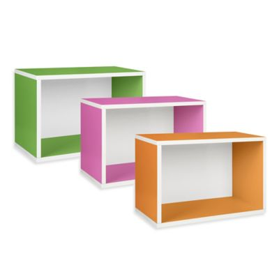 Way Basics Stackable Rectangle Plus Shelf and Bookcase in Black