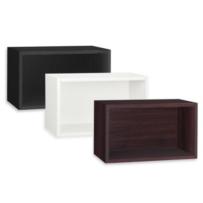 Way Basics Rectangular Wall Shelf in White