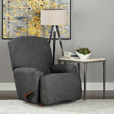 Sure Fit® Designer Denim 1-Piece Recliner Slipcover in Black
