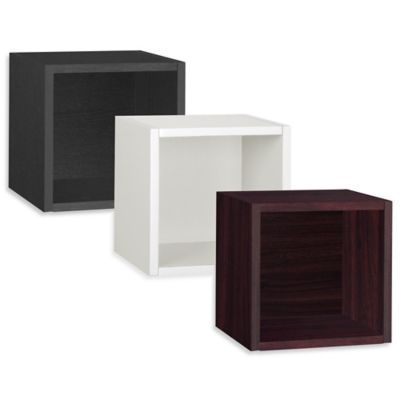 Way Basics Cube Wall Shelf in Black