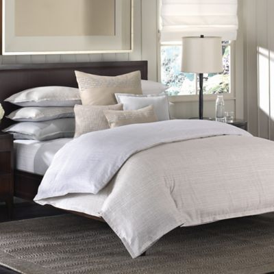 Barbara Barry® Interlace Reversible Full/Queen Duvet Cover in Sand