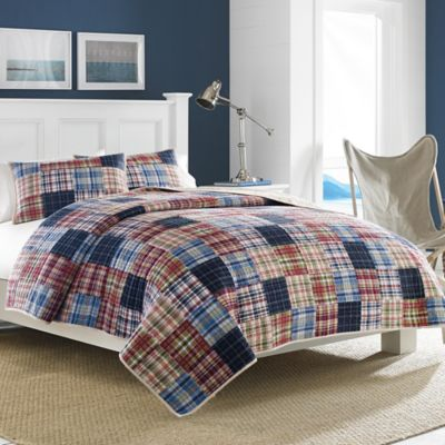 Nautica® Blaine Twin Quilt in Red