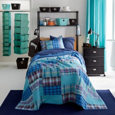 Nautica® Tinsley King Quilt in Aqua