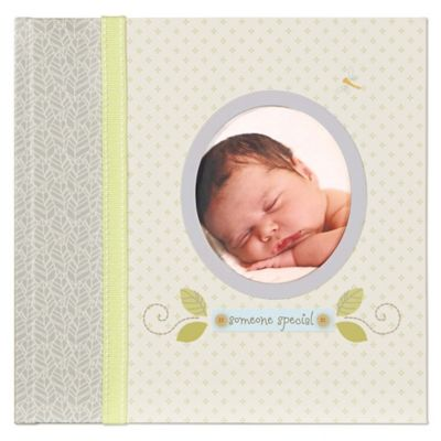 "C.R. Gibson Nest ""Someone Special"" Slim Bound Photo Journal Album in Grey/Yellow"