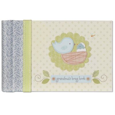 C.R. Gibson Nest Grandma's Brag Book in Grey/Yellow