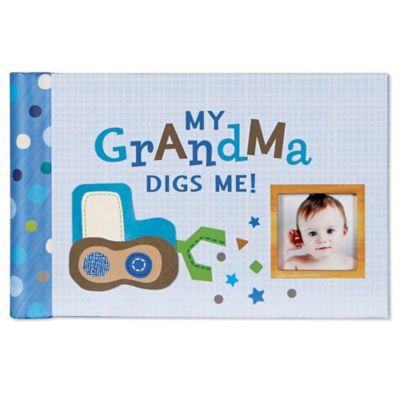 "C.R. Gibson Boy Oh Boy ""My Grandma Digs Me"" Brag Book in Blue"