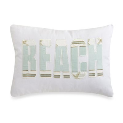 Panama Oblong Throw Pillow in White