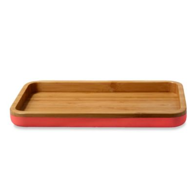 DKNY Color Block Bamboo Tray