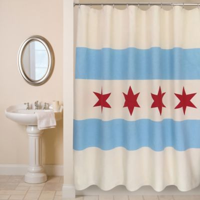 Park B. Smith® Chicago Flag Shower Curtain