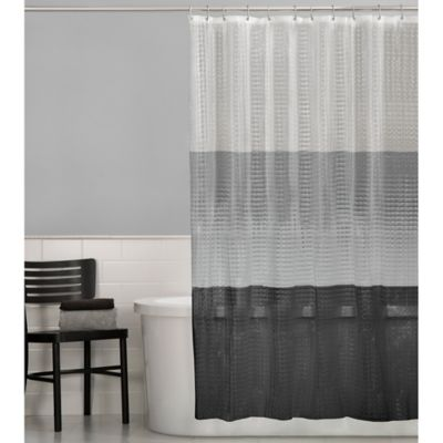PEVA 3D Colorblock Shower Curtain