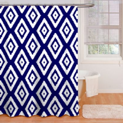 Izzy Shower Curtain in Indigo