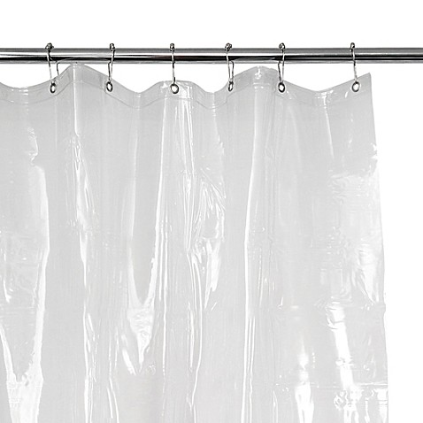 eva 54 inch x 78 inch vinyl shower curtain liner in clear