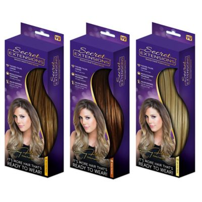Secret Extensions™ Headband Hair Extensions in Black/Brown
