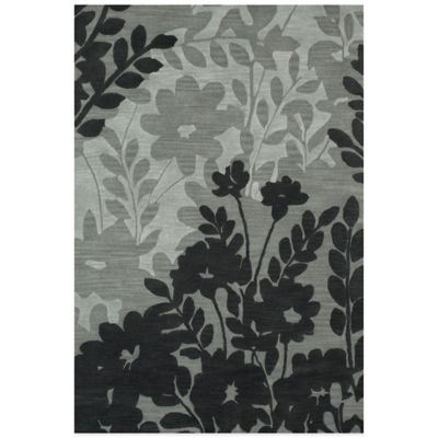 Feizy Floral 2-Foot 6-Inch x 8- Foot Runner in Grey
