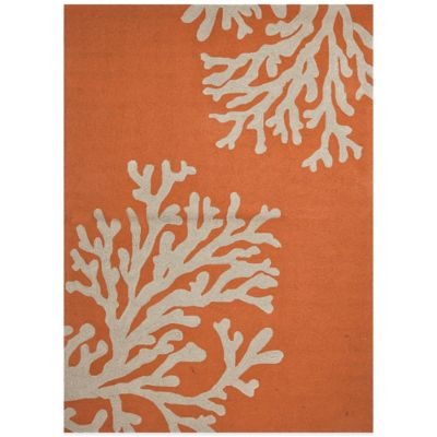 Jaipur Grant Design Bough Out 8-Foot Round Indoor/Outdoor Rug in Orange/Grey