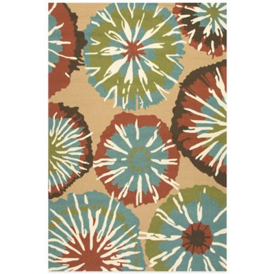 Jaipur Starburst 3-Foot 6-Inch x 5-Foot 6-Inch Rug in Blue/Red