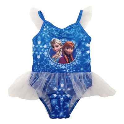 "Disney® ""Frozen®"" Size 2T 1-Piece Anna & Elsa Swimsuit in Blue"