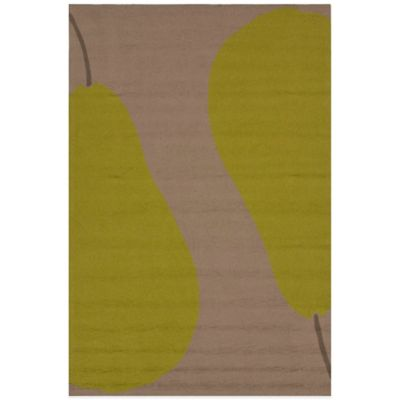 Jaipur Grant Au Pear 5-Foot x 7-Foot 6-Inch Indoor/Outdoor Rug in Beige/Green