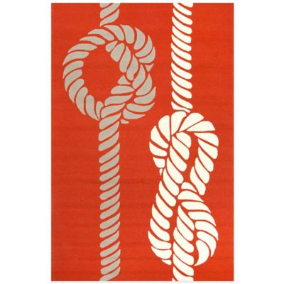 Jaipur Grant Rope Print 7-Foot 6-Inch x 9-Foot 6-Inch Indoor/Outdoor Rug in Blue/Red