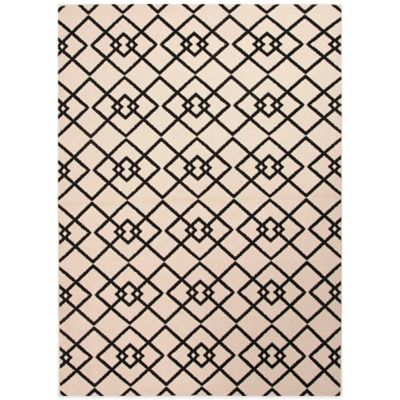 Jaipur Zhane 2-Foot X 3-Foot 7-Inch Indoor/Outdoor Rug in Ivory/Black