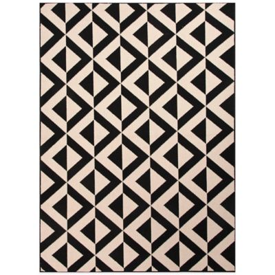 Jaipur Marquise 7-Foot 11-Inch X 10-Foot Indoor/Outdoor Rug in Ivory/Black