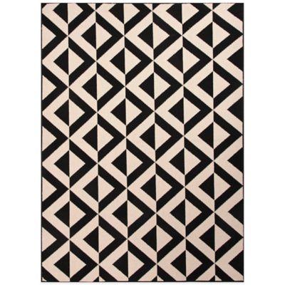 Jaipur Marquise 7-Foot 11-Inch X 10-Foot Indoor/Outdoor Rug in Ivory/Black