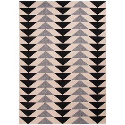Jaipur Patio 7-Foot 11-Inch x 10-Foot Indoor/Outdoor Rug in Black/Grey