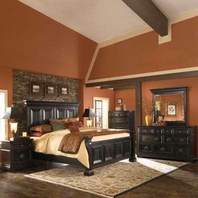 Pulaski Brookfield Queen 5-Piece Bed Set in Black