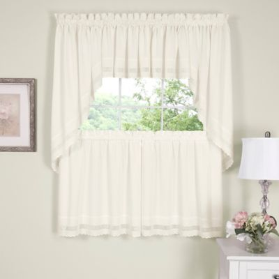 Danielle Embroidered Eyelet 14-Inch Window Valance in Ecru
