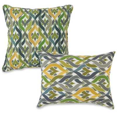 Outdoor Throw Pillows in Geo Yellow - Bed Bath & Beyond