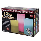Glow Candles™ Flameless Color Changing Pillars (Set of 3)
