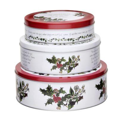 Portmeirion® Holly & Ivy Nesting Cake Tins (Set of 3)