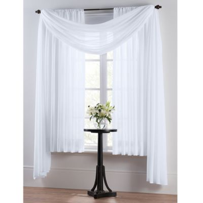 Smart Sheer™ Insulating Voile 63-Inch Window Curtain Panel in White