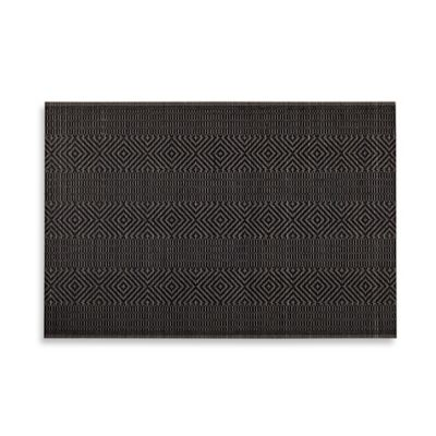 Bamboo Diamond Placemat in Black
