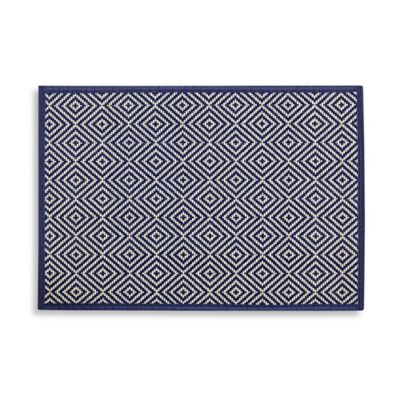 Bamboo Diamond Placemat in Navy