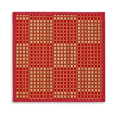 Bamboo Placemat in Red Check