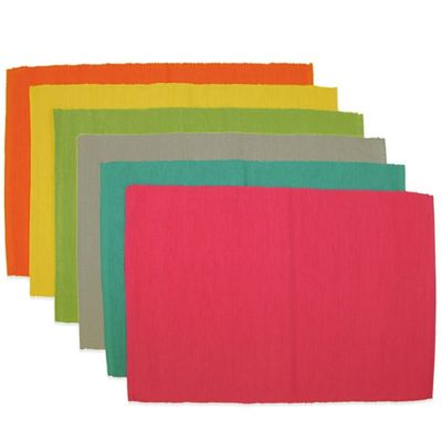 Sentra Mix & Match Solid Color Placemats (Set of 6)