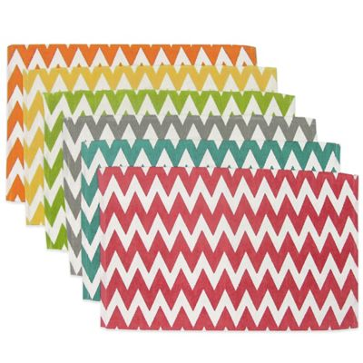 Sentra Mix & Match Chevron Placemats (Set of 6)