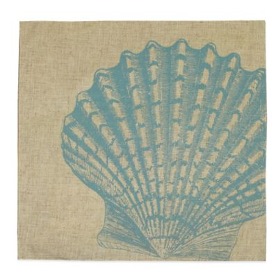 Fan Shell Placemat in Turquoise