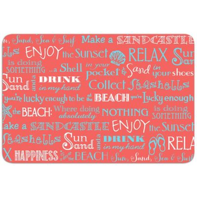 Coral Word Art Laminated Placemat
