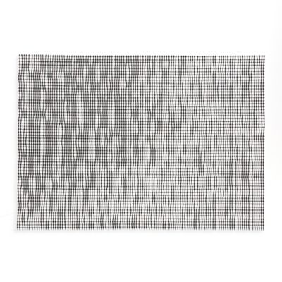 Crystal Woven Reversible Placemat in Black