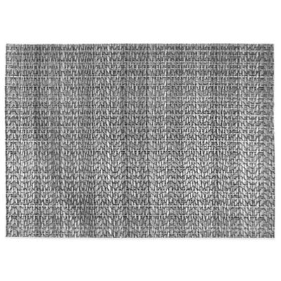 Rogue Woven Reversible Placemat in Black/Silver