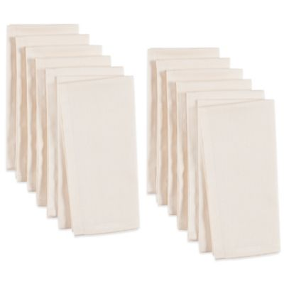 Cotton Dinner Napkins in Ivory (Set of 12)