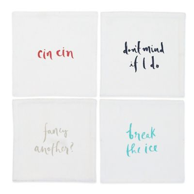 kate spade new york Small Talk Cocktail Napkins (Set of 4)